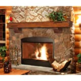 Pearl Mantels 412-60-50 Shenandoah Pine 60-Inch Fireplace Mantel Shelf, Rustic Medium