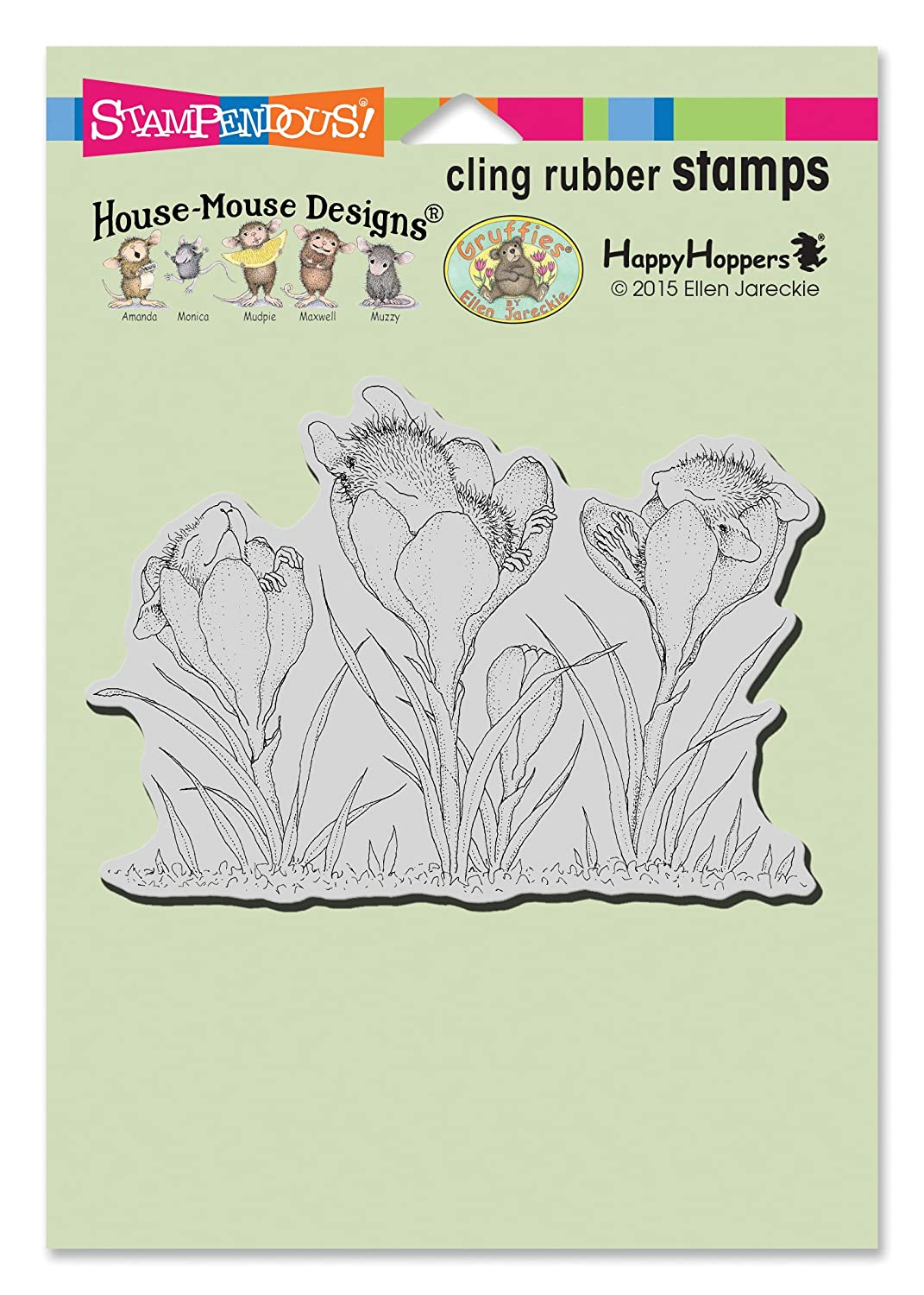Stampendous House Mouse Cling Rubber Stamp Crocus Nap HMCP87