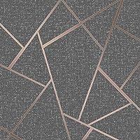 Fine Decor Wallcoverings FD42283 Kwartsfractal-behang, koper