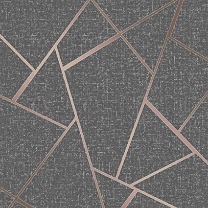 Fine Décor Fd42283 Quartz Fractal Wallpaper Copper Amazoncouk