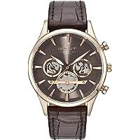 Gant Ridgefield Men's Brown Dial Leather Band Watch - G Gww005003, Analog Display