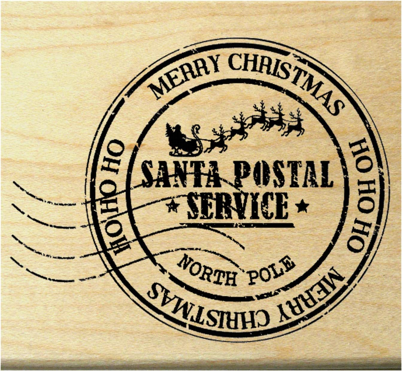 unmounted or cling stamp style 160715 Plant rubber stamp  Mistletoe rubber stamp  Christmas stamp