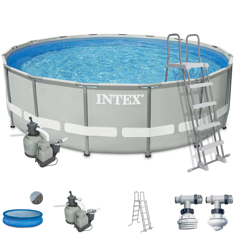 Intex Premium-Pool Komplettset 488x122 cm mit Sandfilter ...