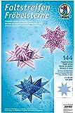 URSUS Bandes de papier pour étoiles de Fröbel, rose/bleu/