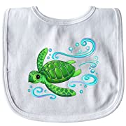 Inktastic - Sea Turtle Swimming Baby Bib White 2e782