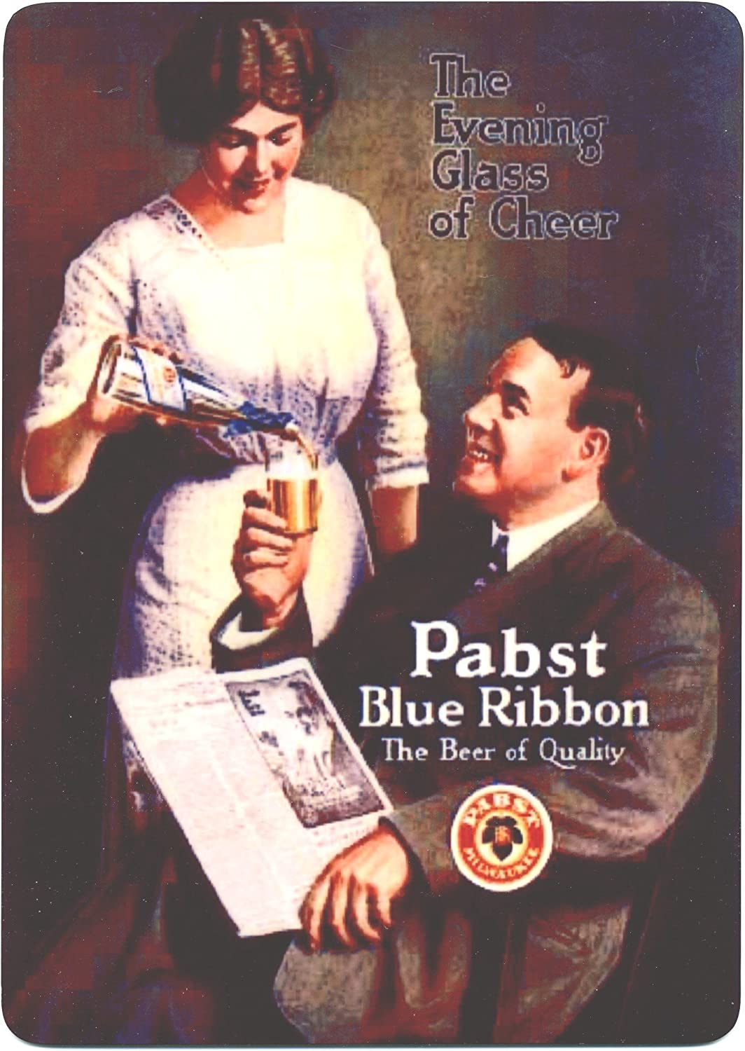 Mid-Century Advertisement H VINTAGE PBR BEER Ad Classic Pabst Blue Ribbon Ad