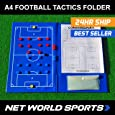 A4 Magnetic Football Tactics Clipboard Folder / Coaching Board **BEST QUALITY AVAILABLE** [Net World Sports]