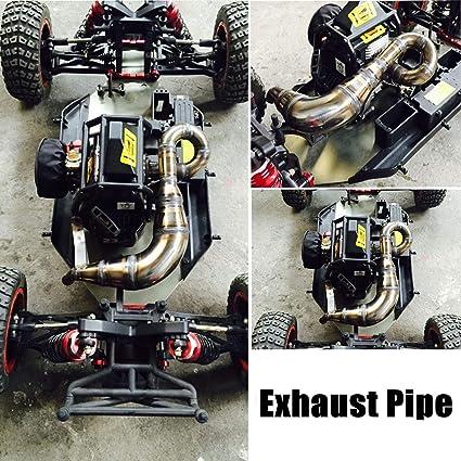 Losi Racing LOS55000 Tuned Exhaust Pipe 23-30cc Gas Engines DBXL