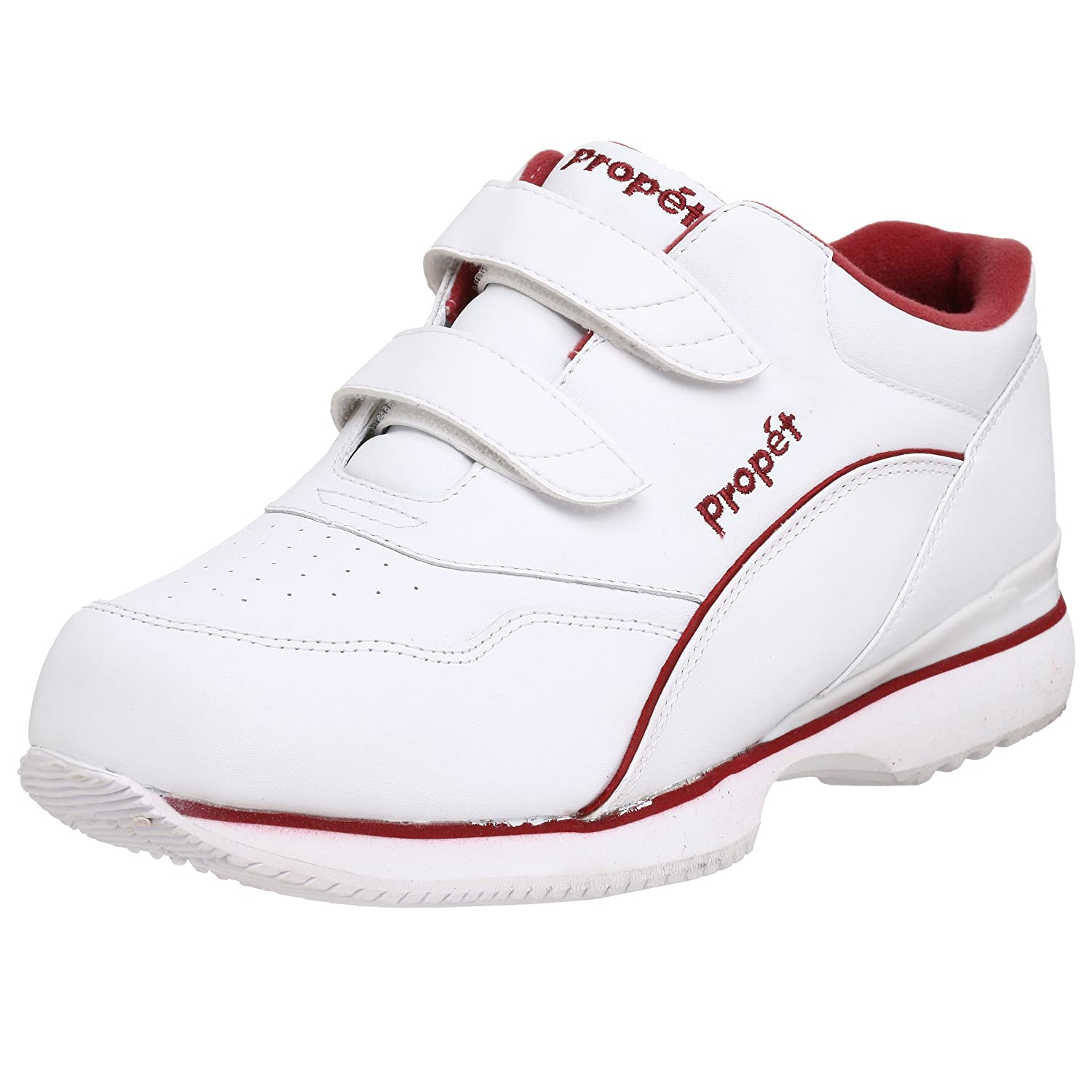 Propet Women's Tour Walker Strap Sneaker B000BO62L6 6.5 XX US|White/Berry