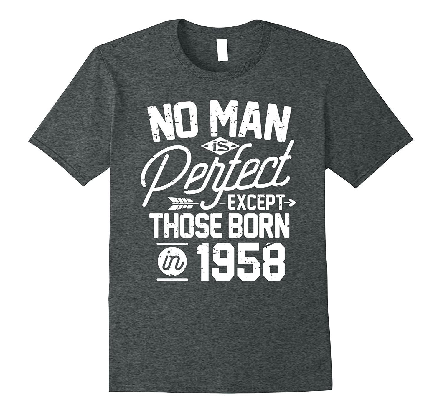 59th Birthday Shirt for 59 Years Old No Man Is Perfect 1958-PL