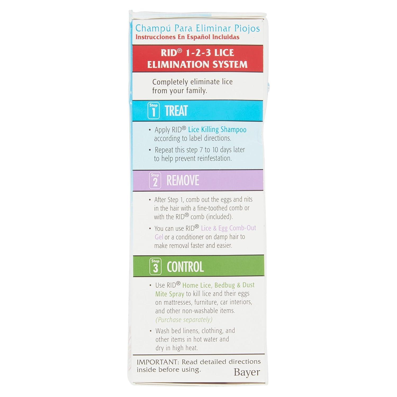 buy bayer rid lice treatment lice killing shampoo 4 fl oz online at