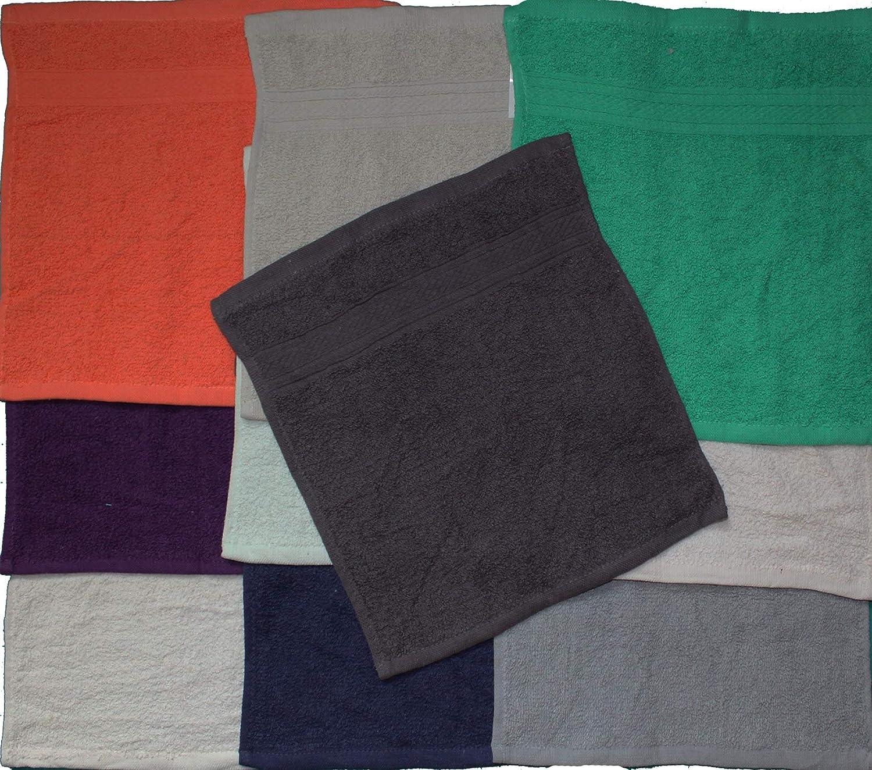 21044 30/x 30/cm Manique 100 /% coton Lot de 10/serviettes essuie-mains Essuie-main env 100/% coton Uni Essuie-mains Uni Walk /éponge 4-5 Farben sortiert 30 x 30 /éponge