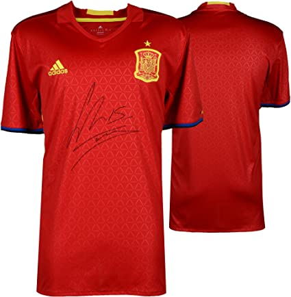super popular 19255 3cbc2 Sergio Ramos Spain Autographed Adidas Red Jersey - Fanatics ...
