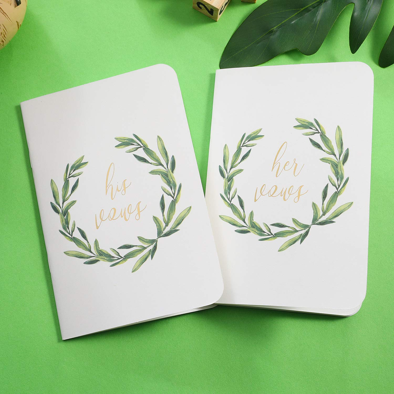 AKITSUMA Wedding Vow Books, His and Her Vow Book, Set of 2, White, US-AKI-29 by AKITSUMA