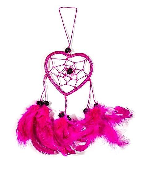 40cm X 40 Heart Dreamcatcher Neon Pink Kids Good For The Car Deko Beauteous Dream Catcher Poem For Kids