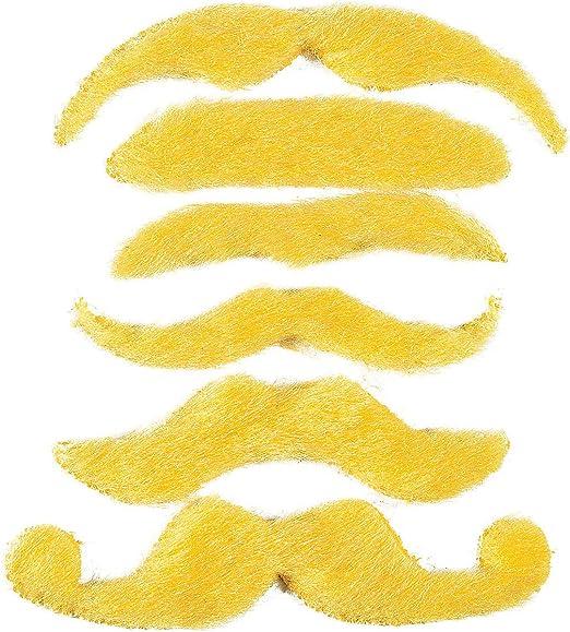 by OTC Costume Moustache Orange 12 Synthetic Mustache Assortment