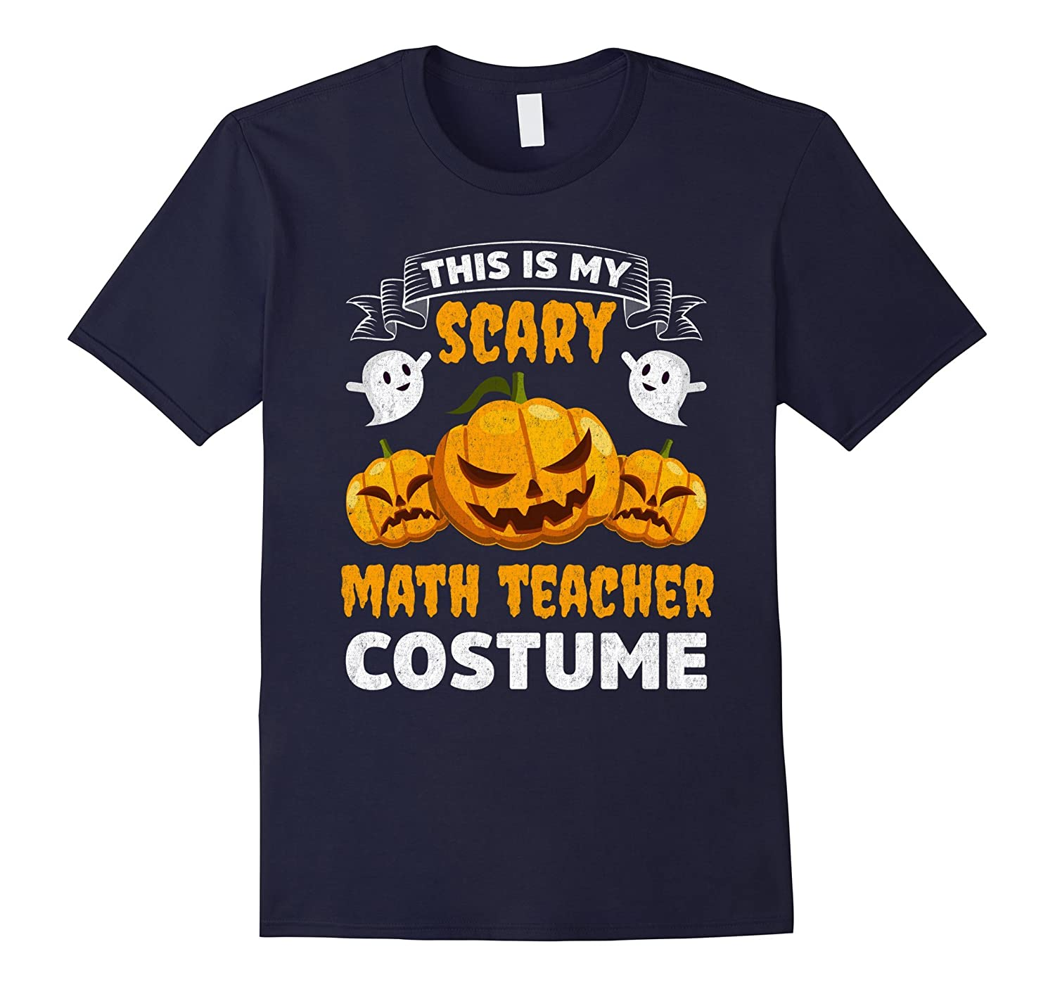 This Is My Scary Math Teacher Costume Funny Halloween Shirt-T-Shirt