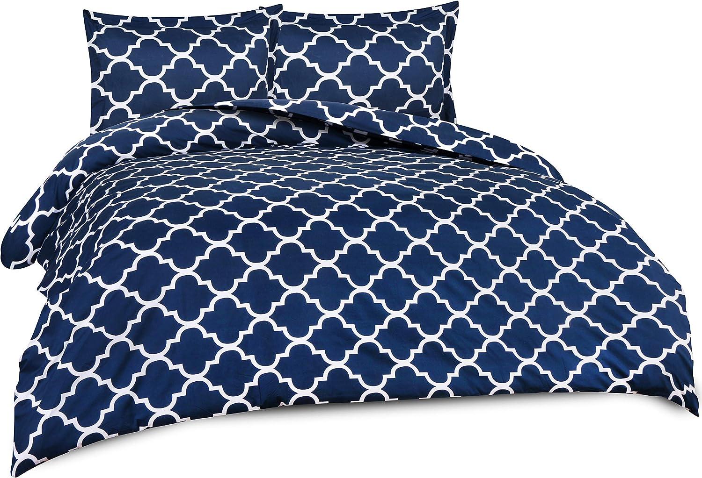 Queen, Grey Hotel Quality Luxuriou... Utopia Bedding Printed Duvet Cover Set