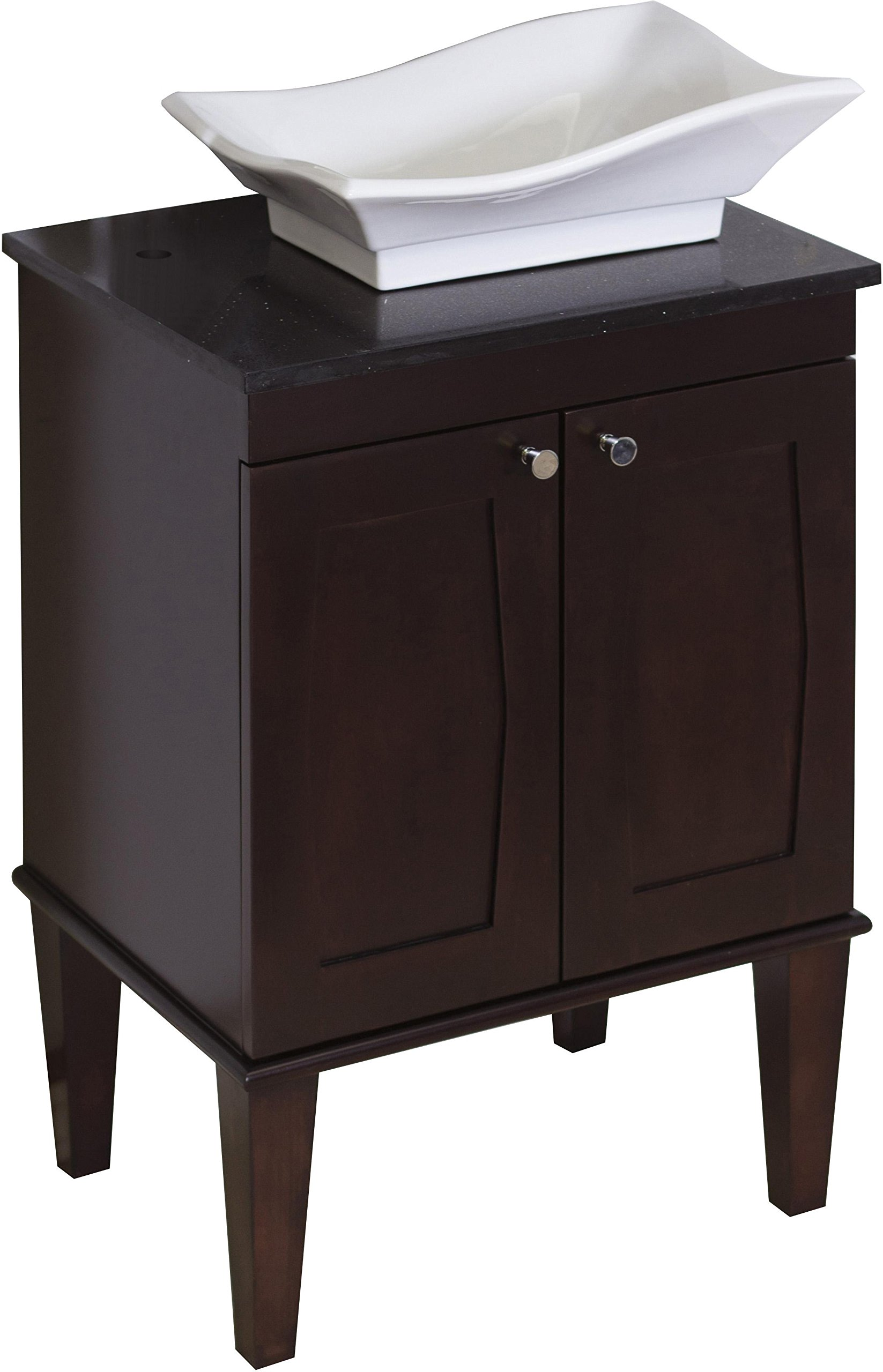 American Imaginations Rectangle Shape Transitional Vanity Set, Comes with a Lacquer-Stain Finish in Antique Walnut Color and Designed for a Single Hole Faucet