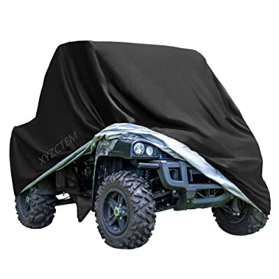 "XYZCTEM UTV Cover with Heavy Duty Black Oxford Waterproof Material, 114.17"" x 59.06"" x 74.80"" (290 150 190cm) Included Storage Bag. Protects UTV From Rain, Hail, Dust, Snow, Sleet, and Sun (XL): Automotive"