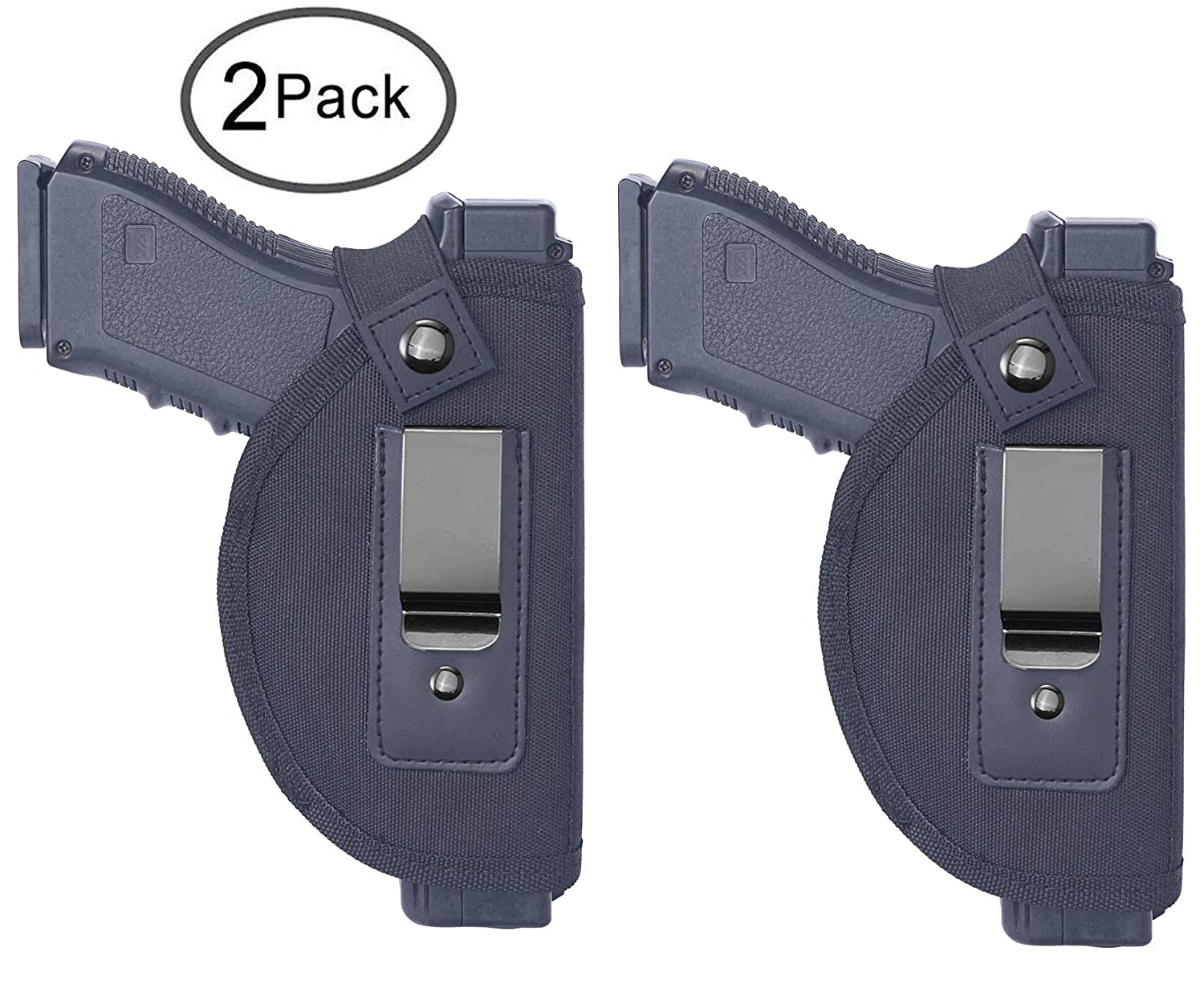 Tenako 2 Pack Universal IWB Holster Inside Waistband Fits All Firearms S&W  M&P Shield 9/40 1911 Taurus PT111 G2 Sig Sauer Glock 17 19 26 27 42 43