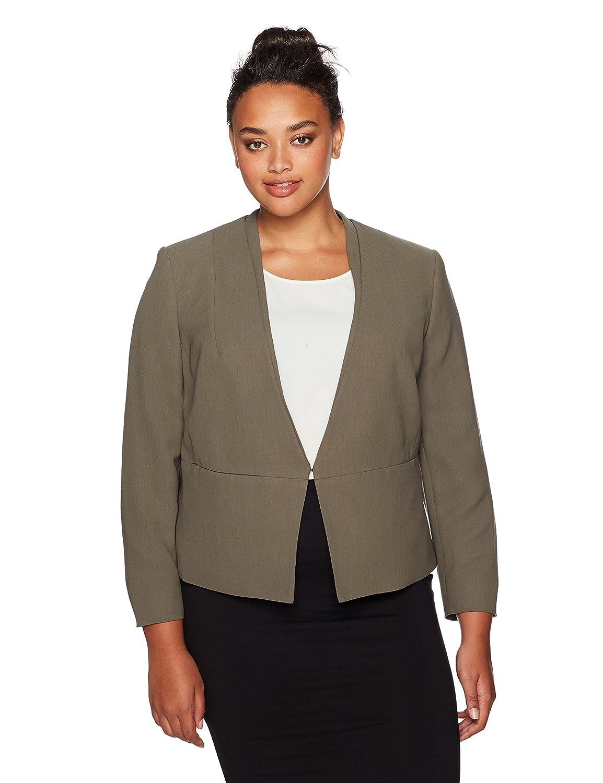 Nine West Women's Plus Size V Neck Jacket Nine West Women' s Suits 10648668-B03