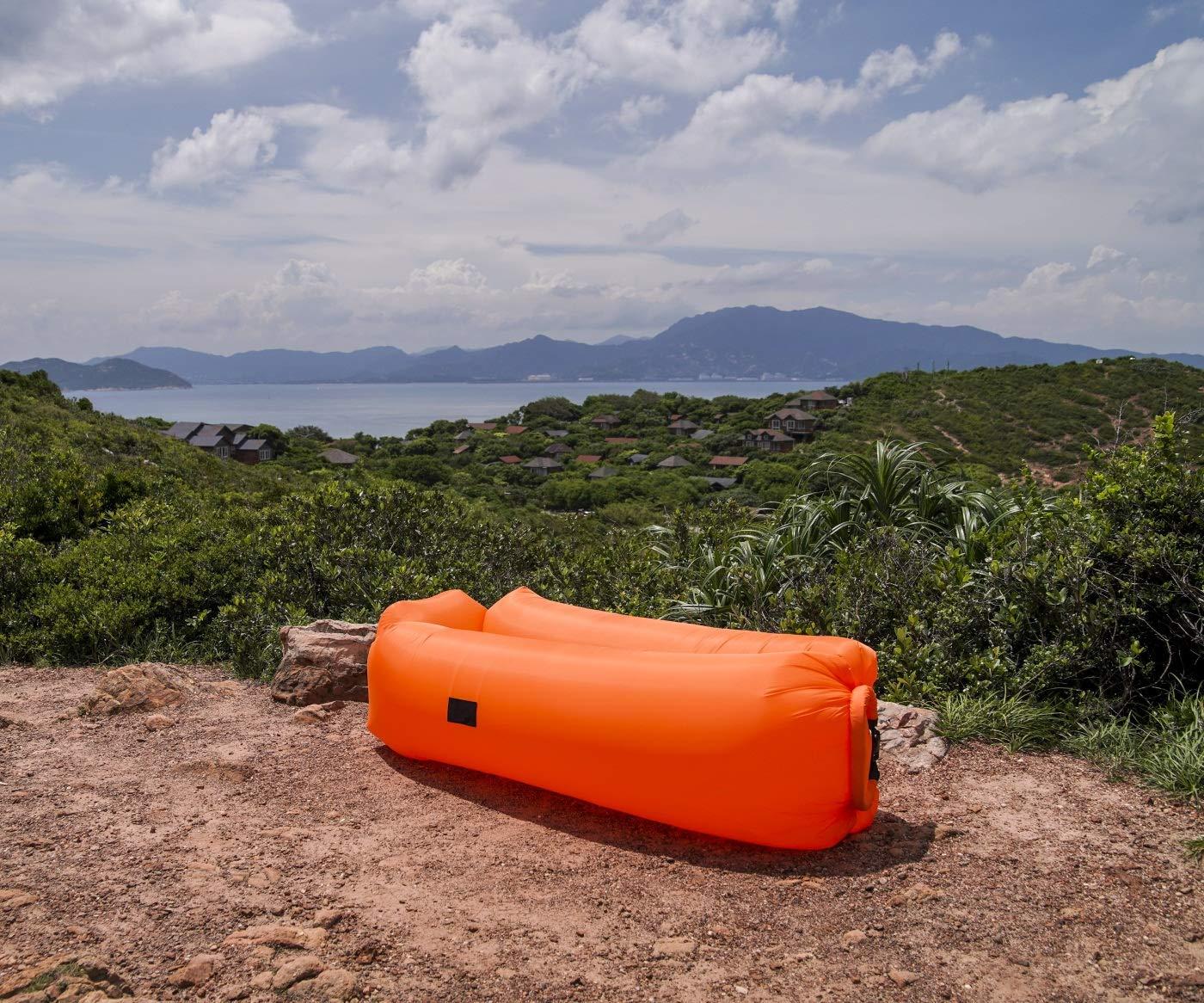 FANCYOUT: Tumbona Hinchable, Hamaca portátil para sofá de Aire, Bolsa de Aire Resistente al Agua, diseño a Prueba de Fugas, Asiento Trasero de sofá de Aire ...