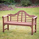 Plant Theatre Lutyens Hardwood Garden Bench - Superb Quality