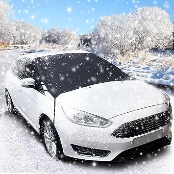 Cubierta de Parabrisas, Migimi Protector Parabrisas Coche Cubierta de Nieve Parabrisas anticongelación Hielo Frost Shield