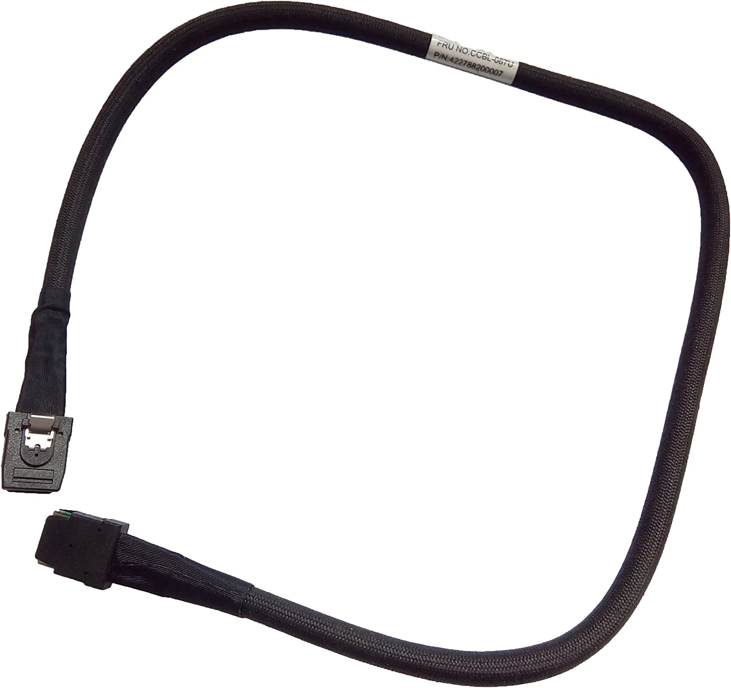 Internal mini-SAS SFF-8087, 36 Pin Male to mini-SAS Cable for Server or Control Card 2.0 Feet//0.6 Meter Cable Plus SFF-8087, 36 Pin 2 Pack
