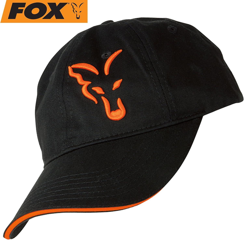 Fox - Gorra de béisbol negra / naranja, gorra para pescadores de ...