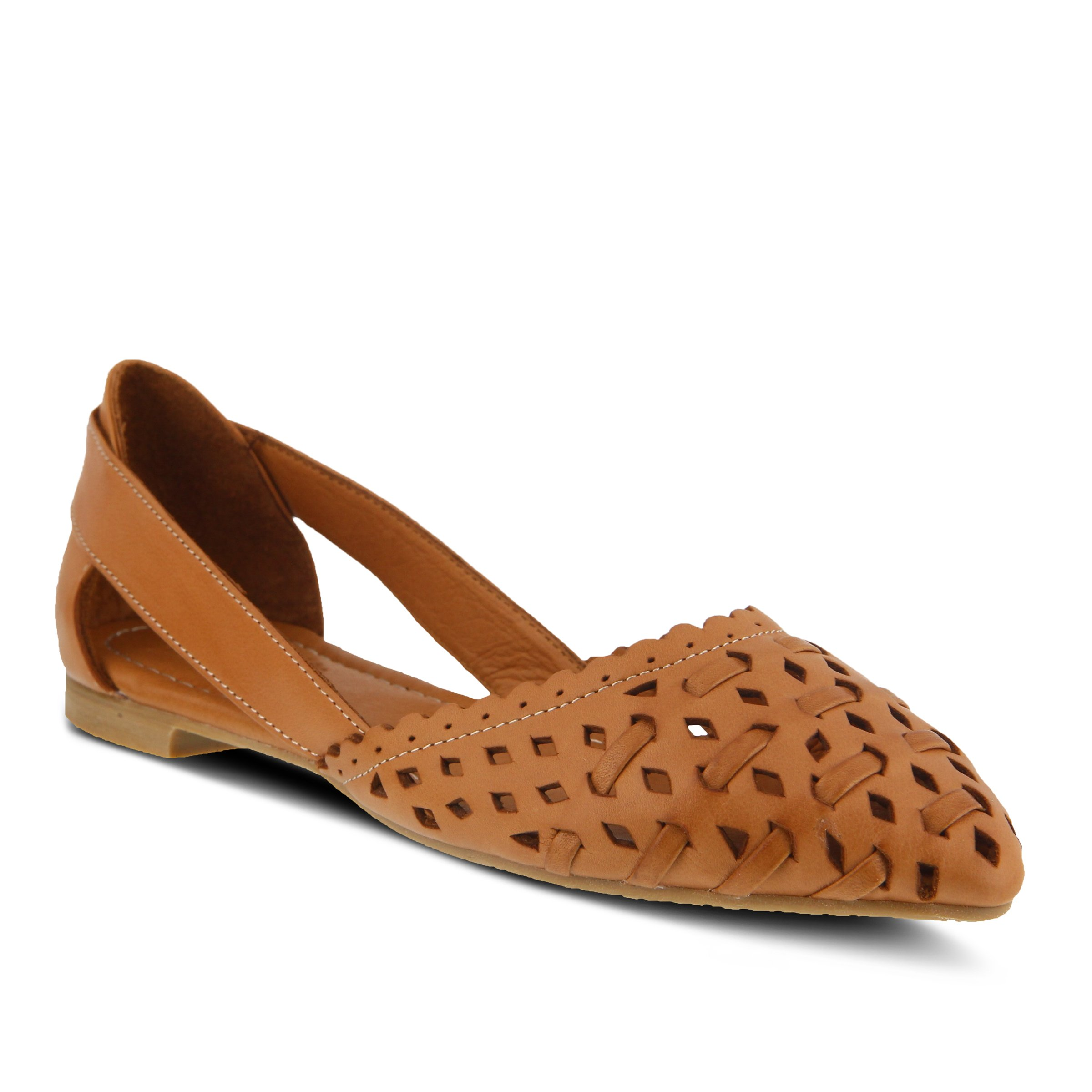 Spring Step Women's Style Delorse Camel EURO Size 39 Leather Slip-On Shoe