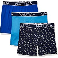 Nautica Mens M71714 3-Pack Classic Underwear Cotton Stretch Boxer Brief Boxer Briefs