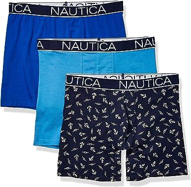 Nautica Mens Classic Boxer Briefs 3-Pack