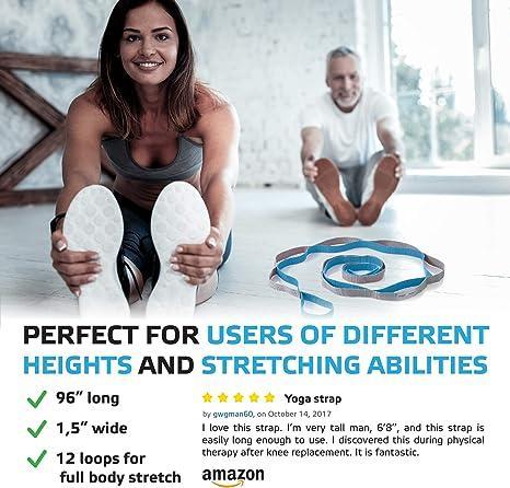 Amazon.com: Sport2People - Correa de estiramiento extra ...