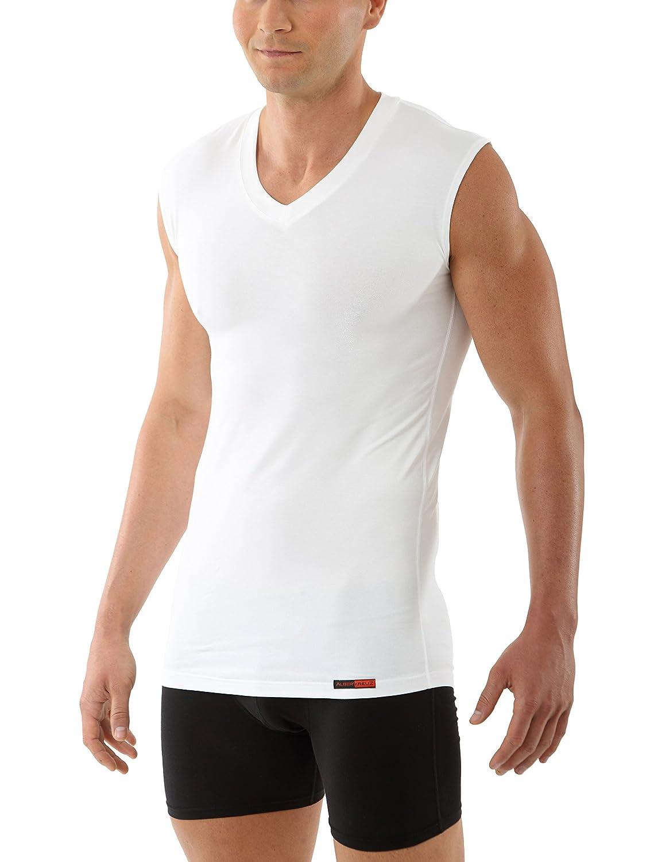 ALBERT KREUZ Men's Business undershirt microfiber Micromodal sleeveless v-neck muscle shirt Stuttgart white 101100-ME