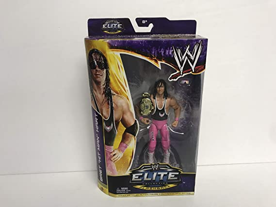Bret HIT MAN Hart 2013 WWE ELITE FLASHBACK action figure with Belt & Glasses at Amazons Sports Collectibles Store