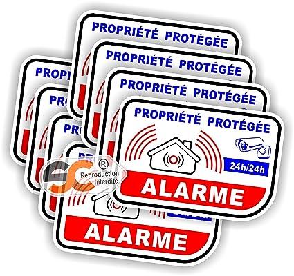 Pegatina auto-adhesiva de alarma, video-vigilancia, lote de ...