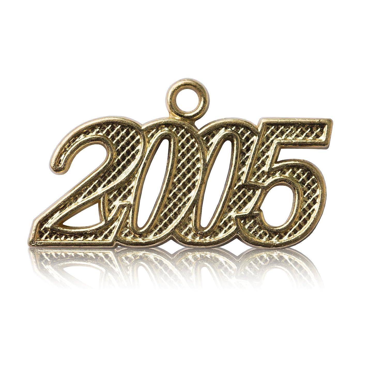 Year 2005 Gold Drop Date Signet for Graduation Tassel Class Act Graduation