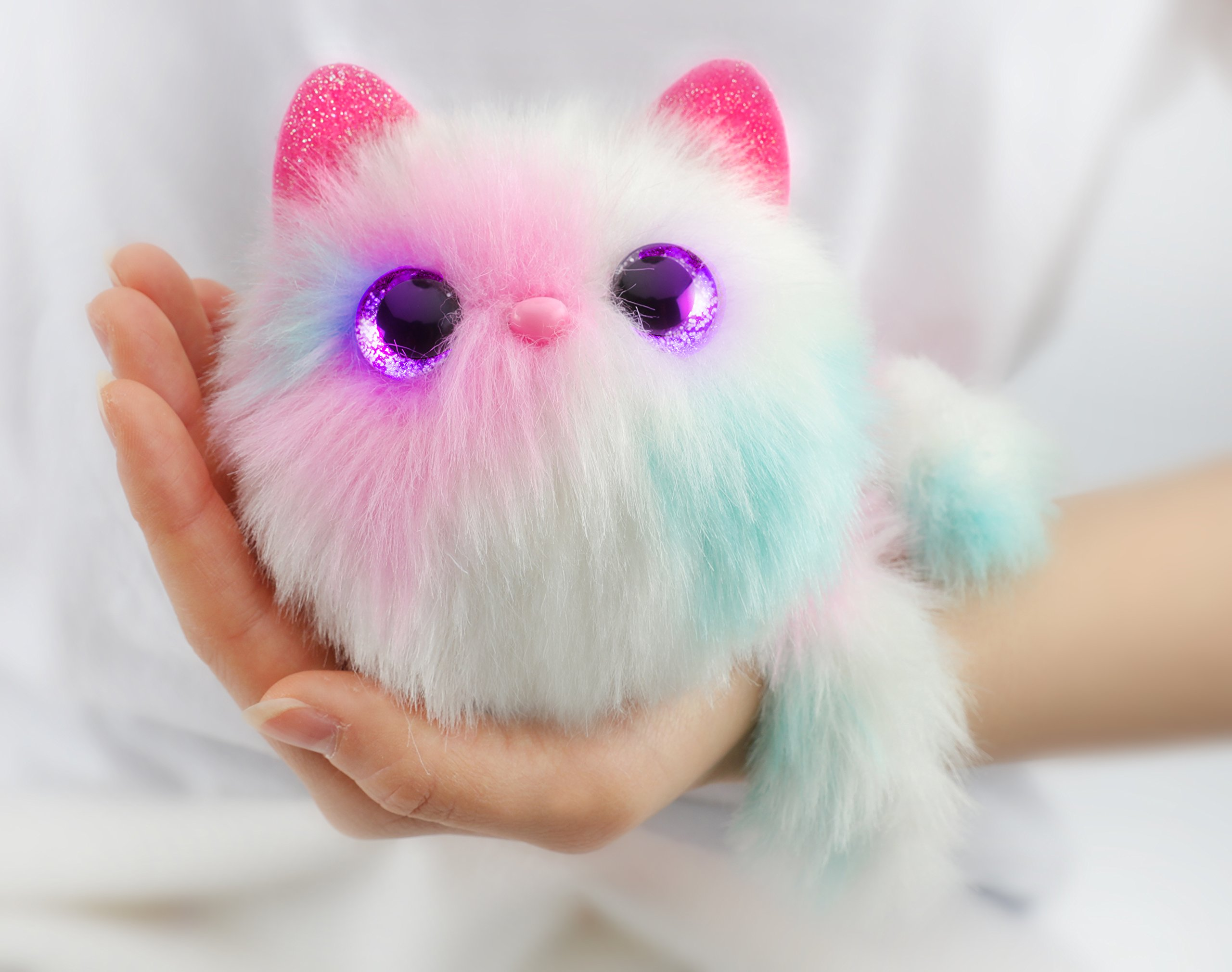 Pomsies Patches Plush Interactive Toys, White/Pink/Mint by Pomsies (Image #5)