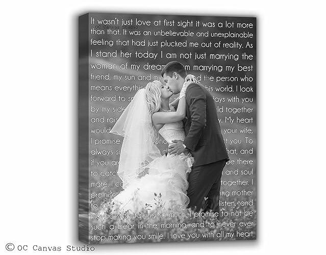 Amazoncom Black And White Photo Personalized Wedding Photo Canvas