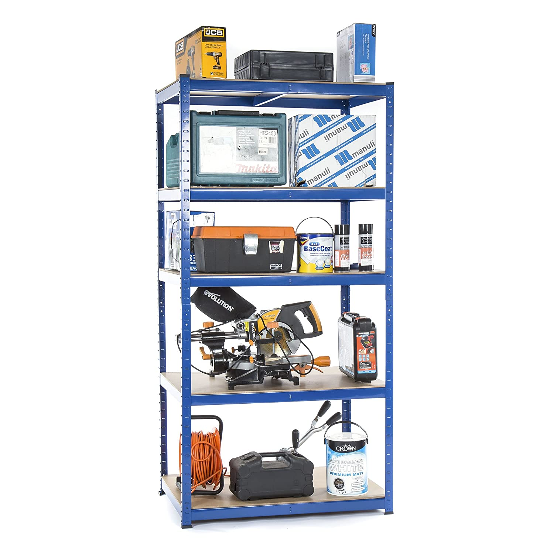 Kit d/étag/ères de garage en coin ultra-r/ésistantes H x l x P - Grande capac 1 /él/ément en coin de 1800/x 900/x 450/mm et 2//él/éments d/étag/ères de 1800 x 900 x 450/mm