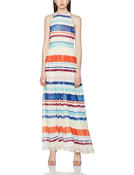 Tommy Hilfiger Agatha Chiffon Maxi Dress, Vestido para Mujer, (Lee STP),
