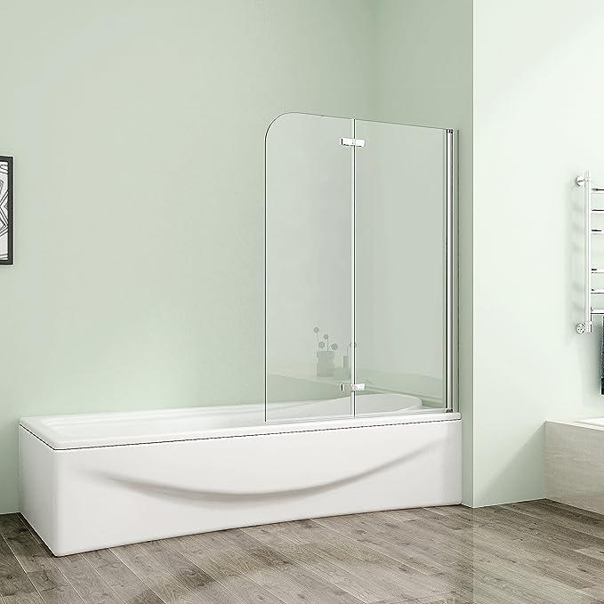120 x 140 cm bañera 2-FTG. Puerta ducha dos puertas alas de giro de la mampara de 6 mm de vidrio templado de Nano Cristal AS2E - 12H -6: Amazon.es: Bricolaje y herramientas