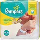 Pampers New Baby 24 Nappies, Carry Pack, 1 - 2,5 kg, Size 0 (Micro)