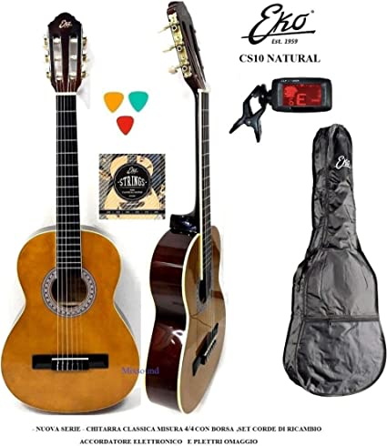 EKO CS10 Guitarra clásica 4.4 Kit Acoplador Funda púas cuerdas de ...