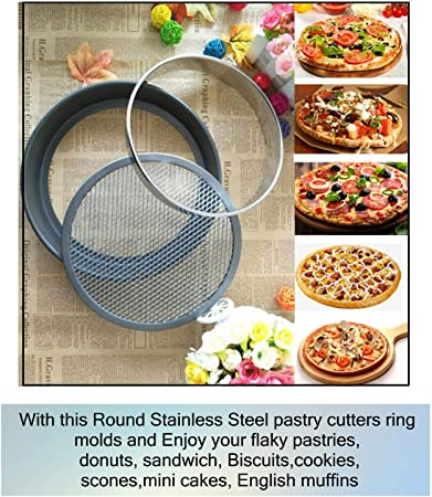 Details about  /5 Set Round Circle Stainless Steel Cookie Cutter Biscuit Pastry Baking Mold S7Y9
