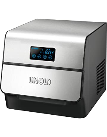 Unold 48955 Built-in/freestanding ice cube maker 150W Negro, Acero inoxidable máquina