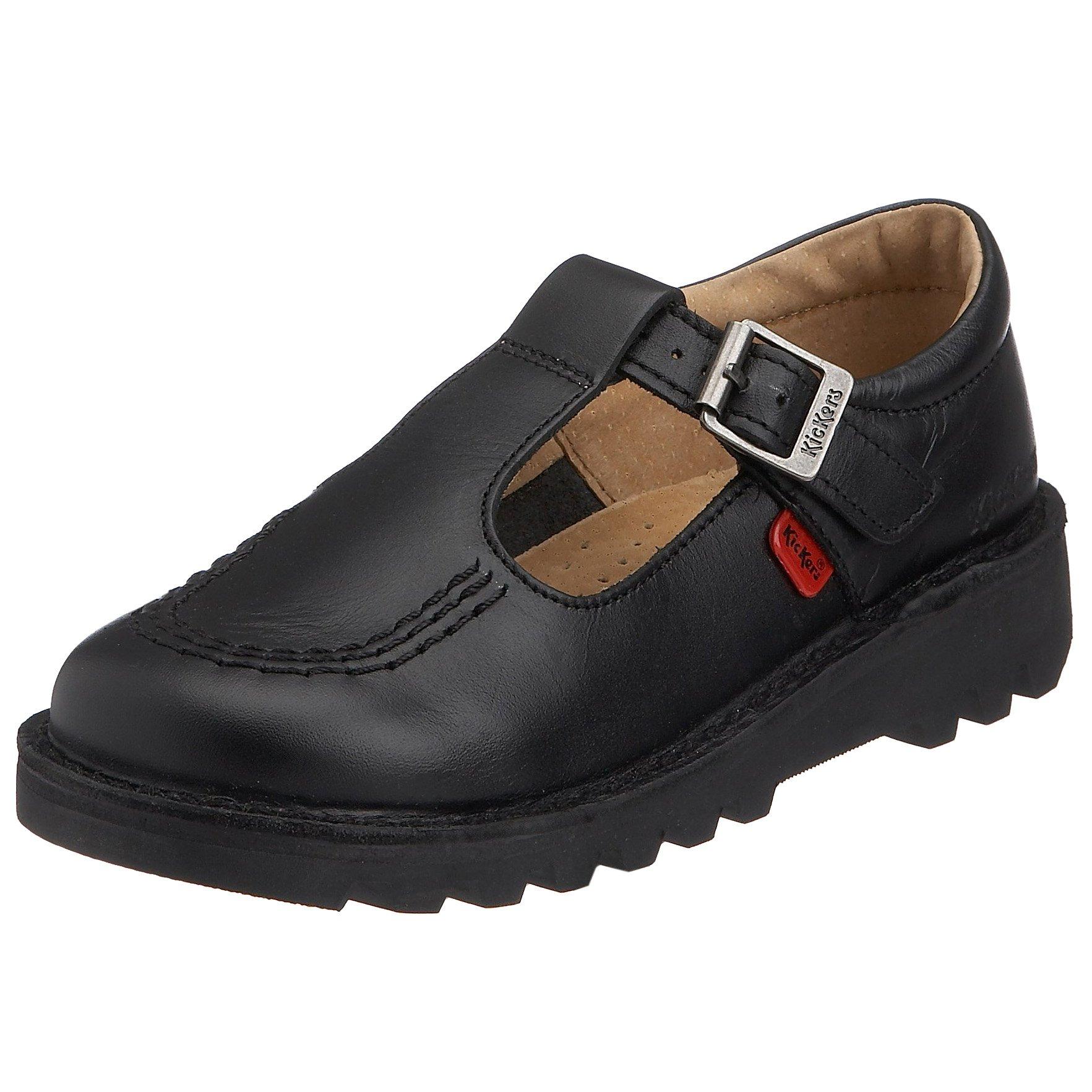 Kickers Kick T I Core Black Leather Shoes-UK 10 Infant