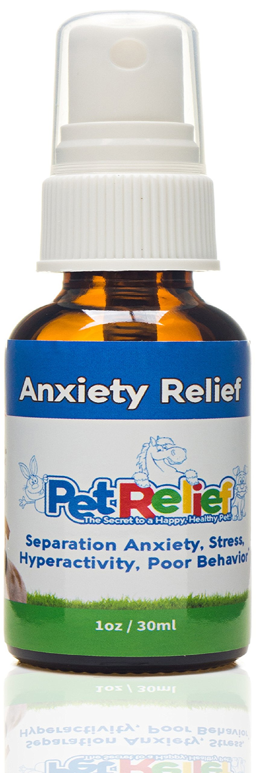 Dog Anxiety Relief - Soothes Dogs With Separation Anxiety - Lifetime Replacement Guarantee - 100% Natural - Helps Calm Barking, Obsessive Licking, Aggression, and Thunder Fear. 30ml. Made in USA
